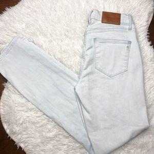 Madewell Skinny Straight Light Wash Jeans 25x29